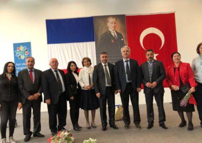 Eğitim müşaviri Sayin Murat Demirkan, UFTC dernek başkani Kadir KILIK, bölge öğretmenleri  Aysegül DEMIR, Özden GÜRSOY, ve diger misafirler..